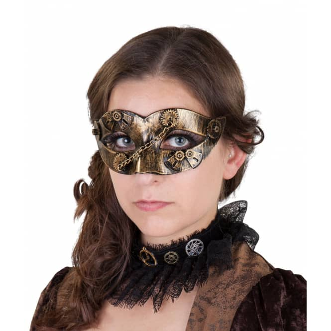 Augenmaske - Steampunk - für Erwachsene - 15 x 7 cm