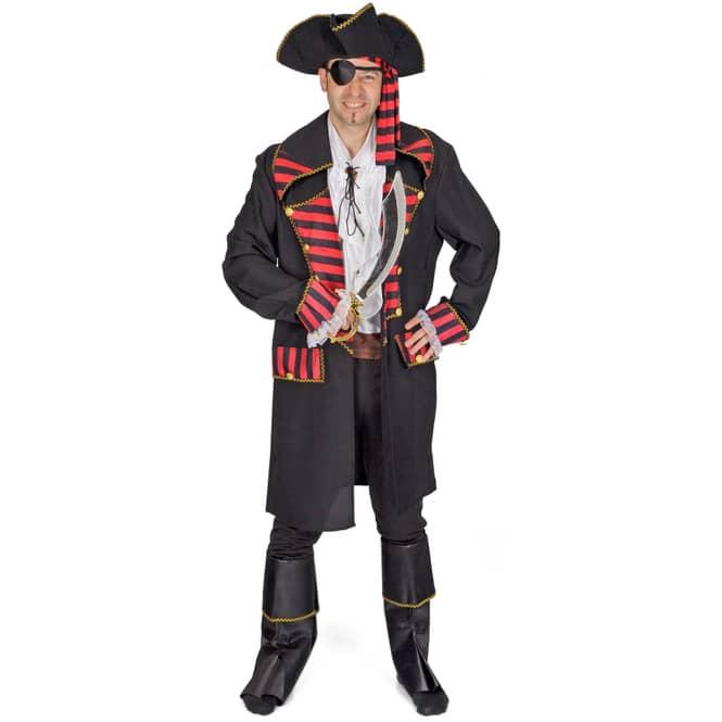 Kostüm -  Pirat - für Erwachsene - 6-teilig - verschiedene Größen