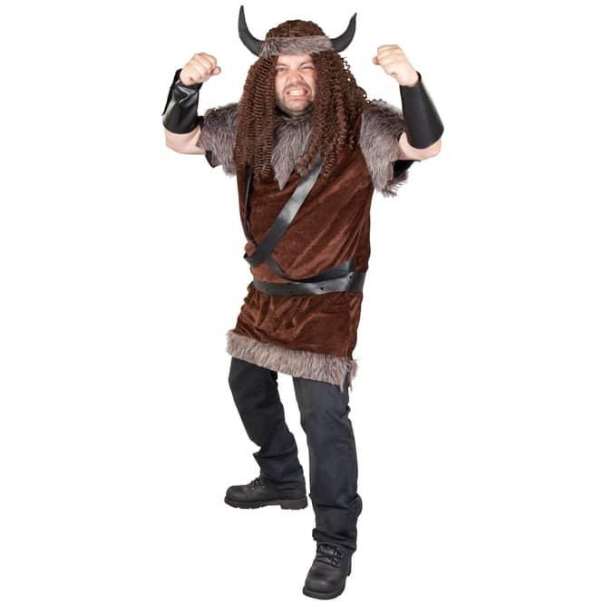 Kostüm - Wikinger - für Erwachsene - 3-teilig - verschiedene Größen