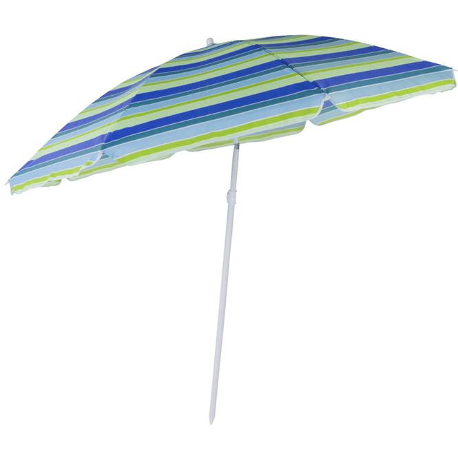Sonnenschirm - Ø = ca. 180 cm - gestreift