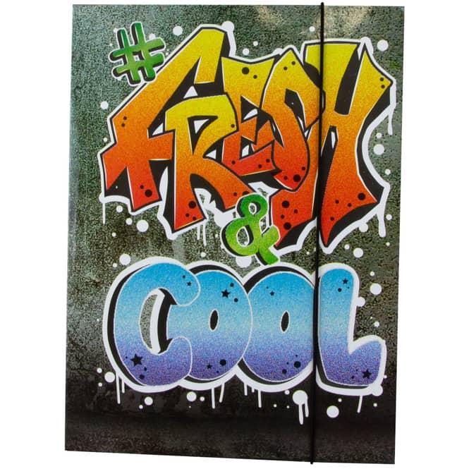 Gummizugmappe DIN A4 - Graffiti Fresh & Cool