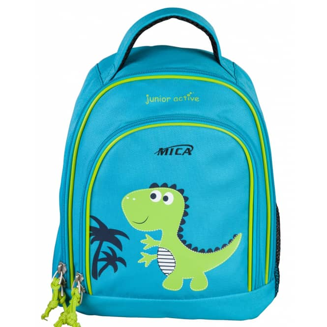 MICA - Dinosaurier Kinderrucksack - hellblau