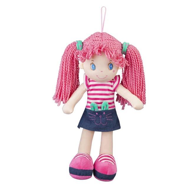 Besttoy - Weichpuppe - Mädchen mit Jeansrock - ca. 35 cm