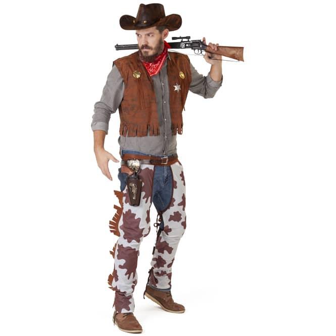 Kostüm - Cowboy - für Erwachsene - 3-teilig - Größe 56/58