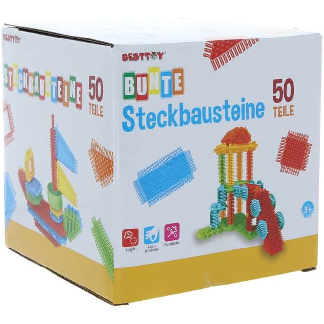 Besttoy - Bunte Steckbausteine - 50 Teile