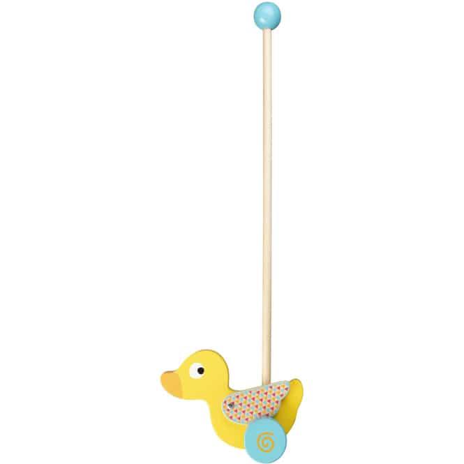 Besttoy - Schiebetier Ente aus Holz