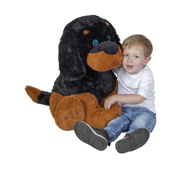 XL Plüsch Hund - Rottweiler - sitzend - ca. 62cm