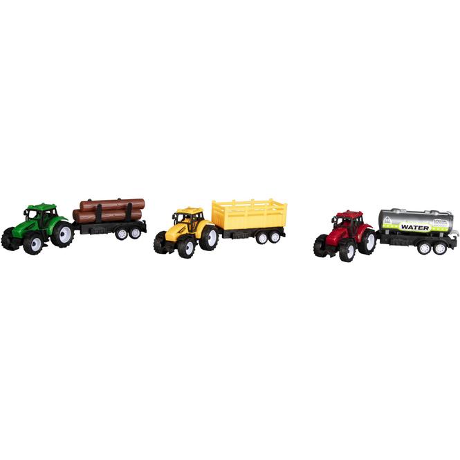 Besttoy - Fahrzeug Spielset - 3 Traktoren mit Anhänger