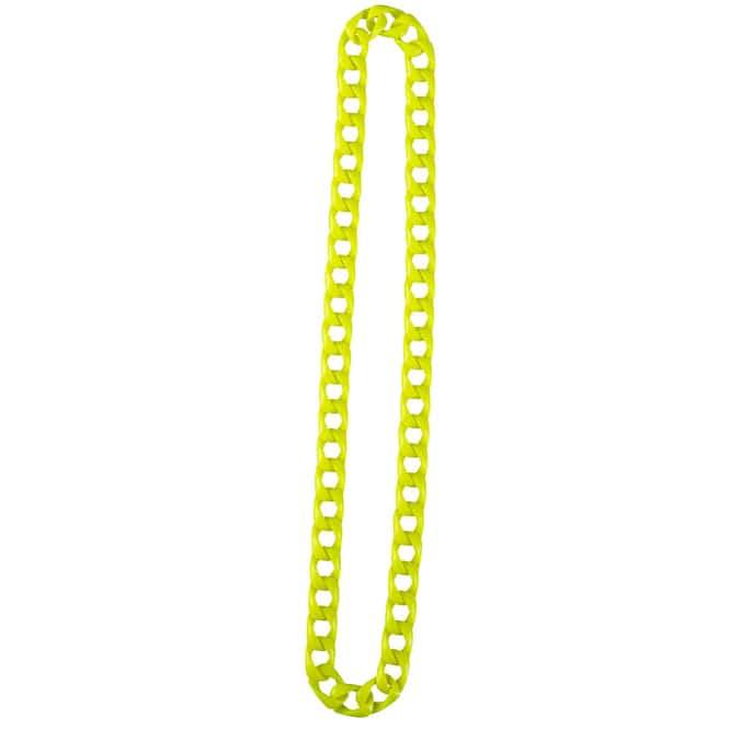 Faschingsschmuck - Halskette - neongelb