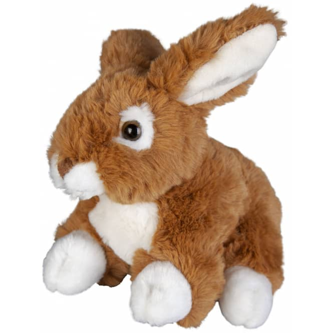 Besttoy - Plüsch-Hase sitzend - 17 cm - braun