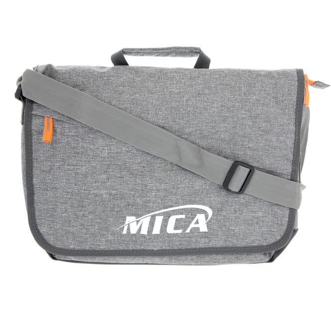 MICA - Schultertasche - grau/orange