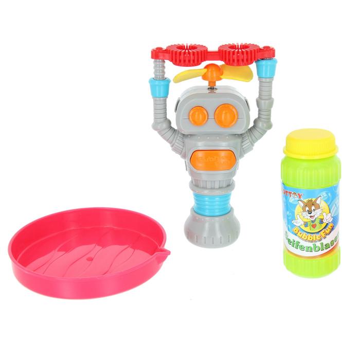 Besttoy - Mini Seifenblasenroboter - inkl. 60 ml Flüssigkeit