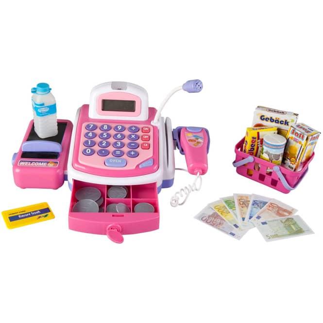 Scanner-Kasse - pink - mit Licht und Sound