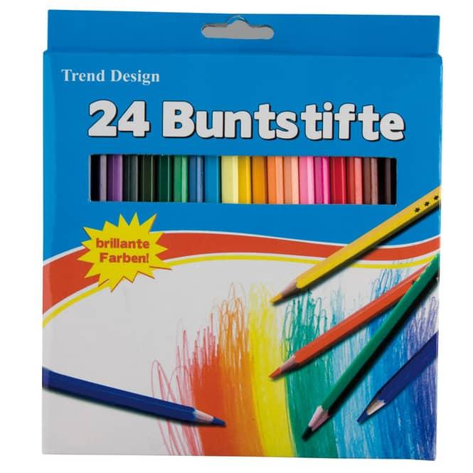 24 Holzbuntstifte von Besttoy 24 Stifte