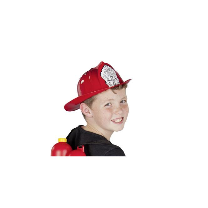 Feuerwehrhelm - rot - für Kinder