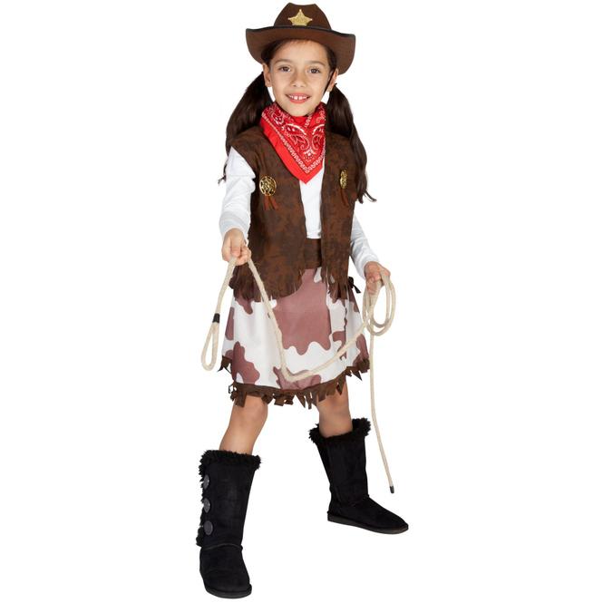 Kostüm - Cowgirl - für Kinder - 3-teilig - Größe 110/116