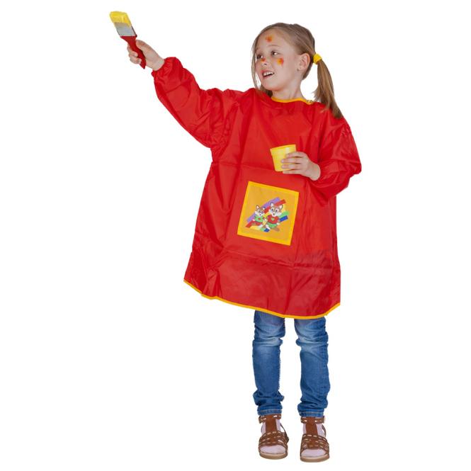Malkittel für Kinder von 6 bis 8 Jahren - in rot