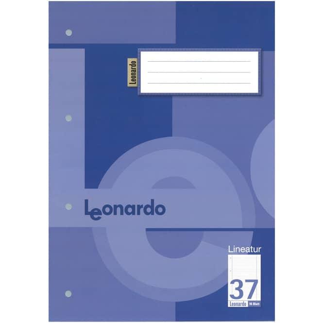 Schulheft DIN A4  liniert - Lineatur 37
