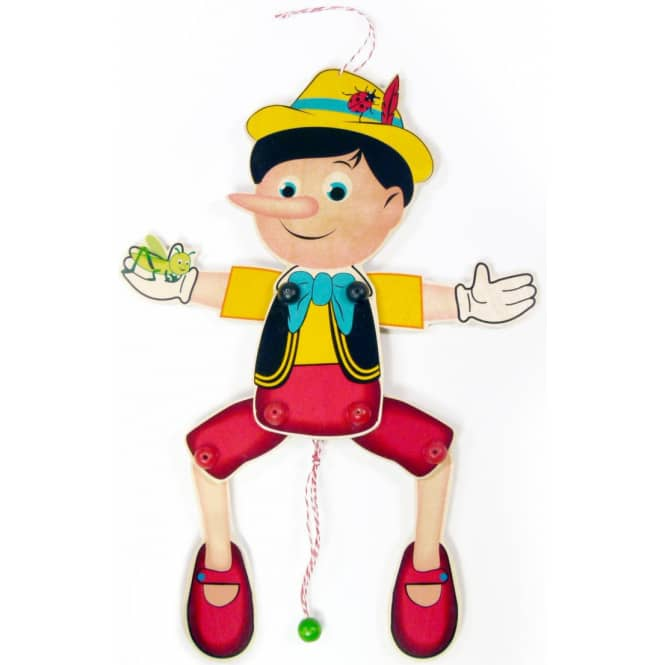 Hampelmann - Pinocchio - aus Holz