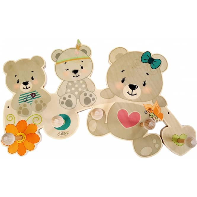 Garderobe - Bären - aus Holz