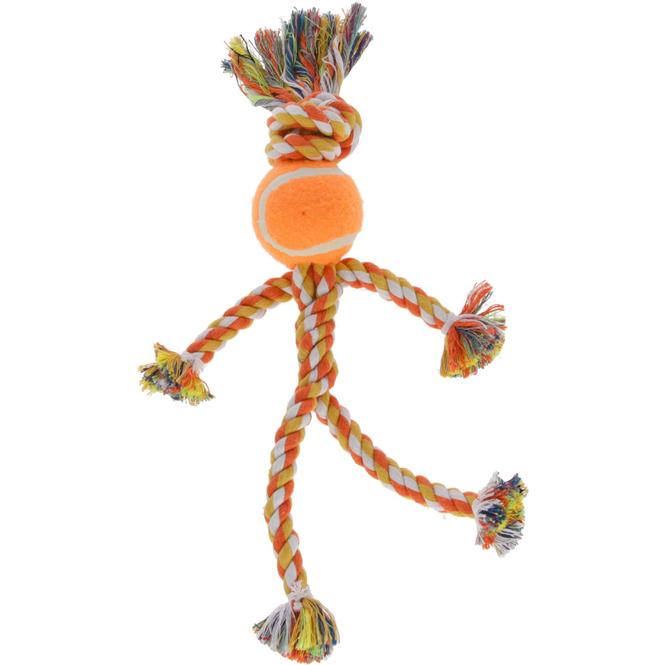 Hundespielzeug - Strichmännchen mit Tennisball - 30 cm