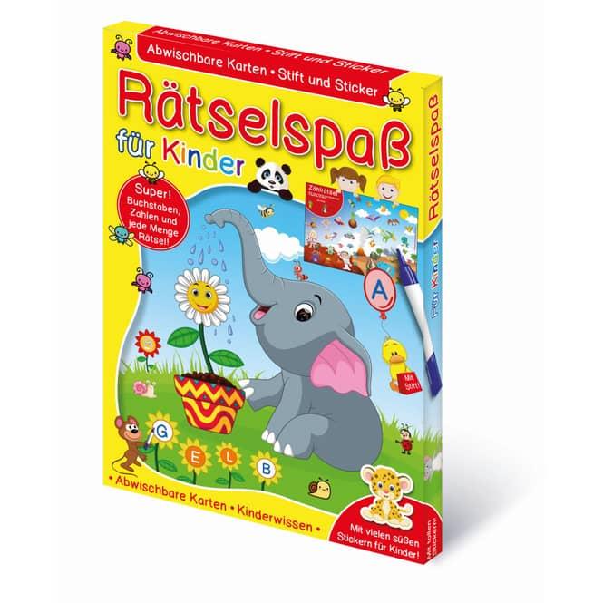 Lern-& Rätselkartenbox - Rätselspaß für Kinder