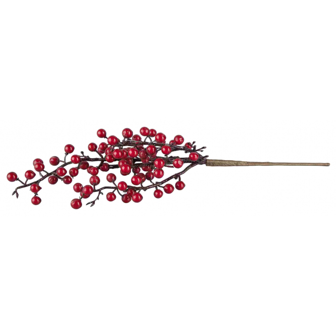 Dekozweig - mit roten Beeren - ca. 40 cm