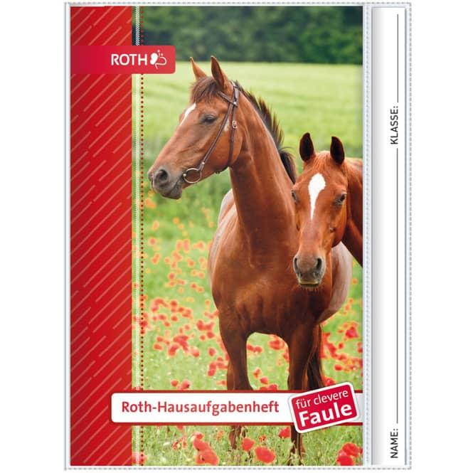 Hausaufgabenheft - Pferde - A5