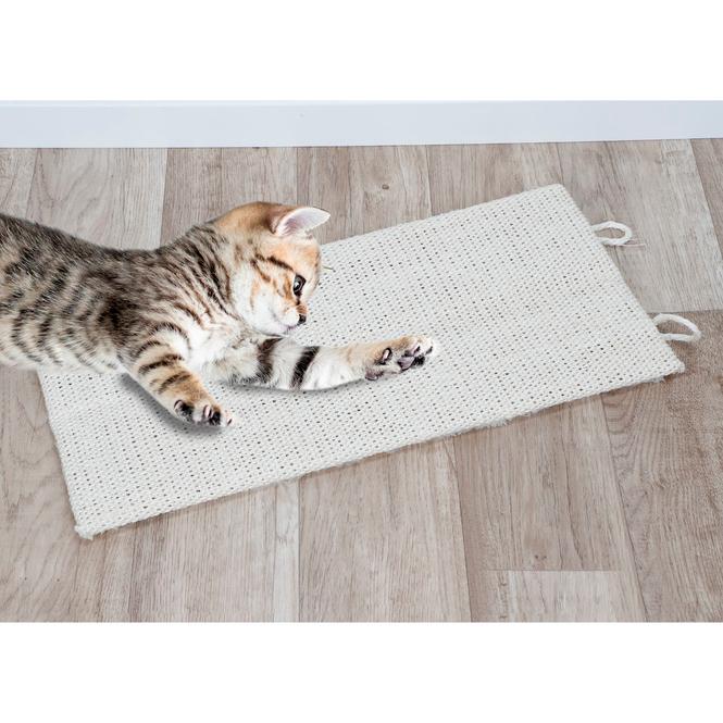 Katzenzubehör - Kratzmatte - in beige