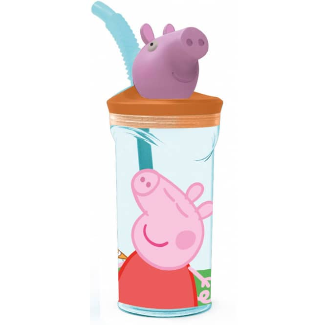 Peppa Pig - Trinkbecher mit Strohhalm - ca. 360ml