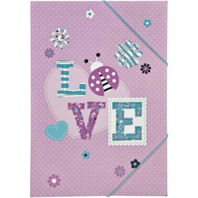 LOVE - Gummizugmappe - A3