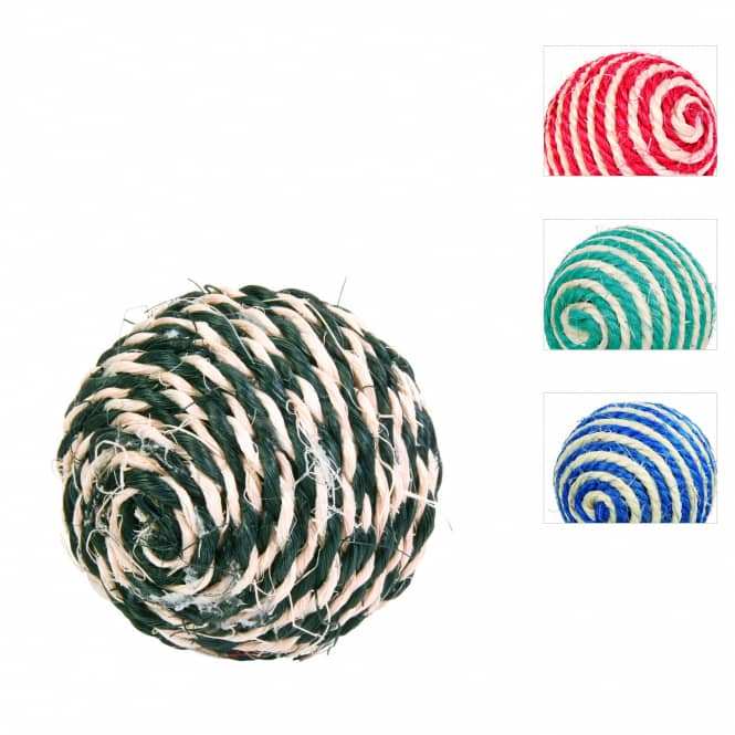 Katzenspielzeug - Sisalball mit Rassel - 1 Stück
