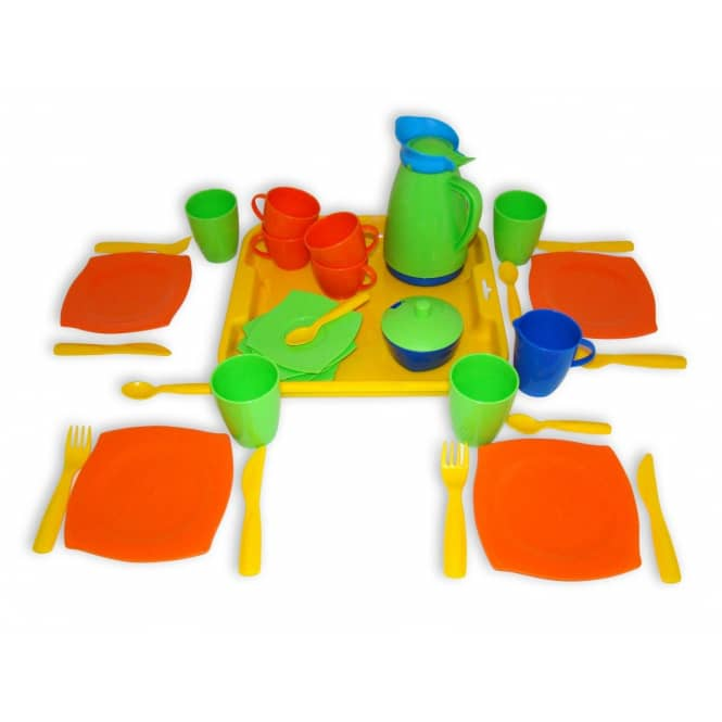 Kinderservice mit Tablett - 34-teilig