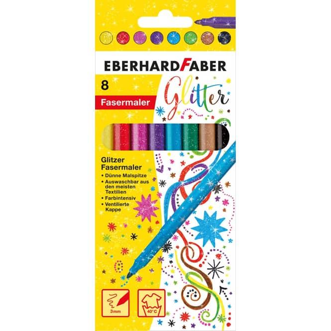 Eberhard Faber - 8 Fasermaler - Glitzer