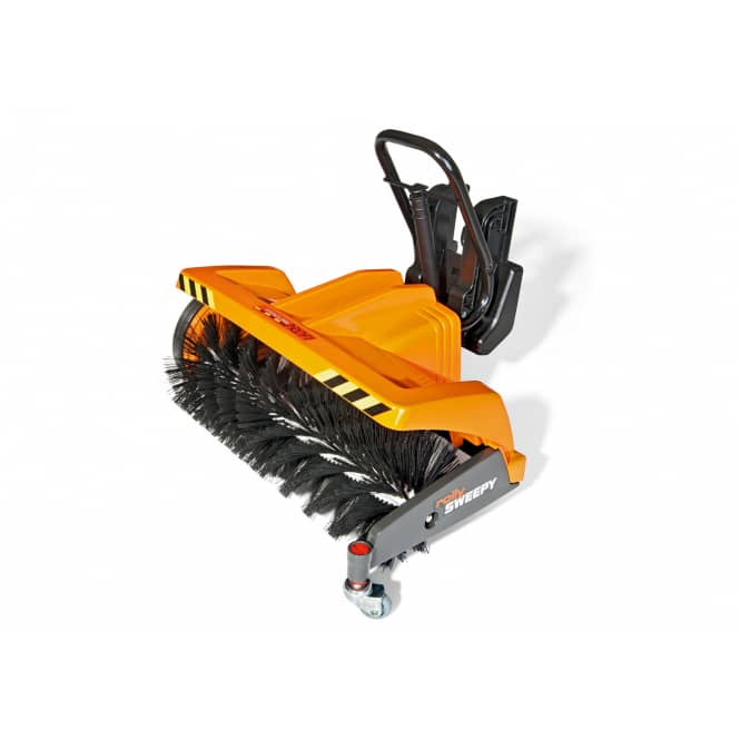 Anbaukehrmaschine für Trettraktor - rollySweepy - orange