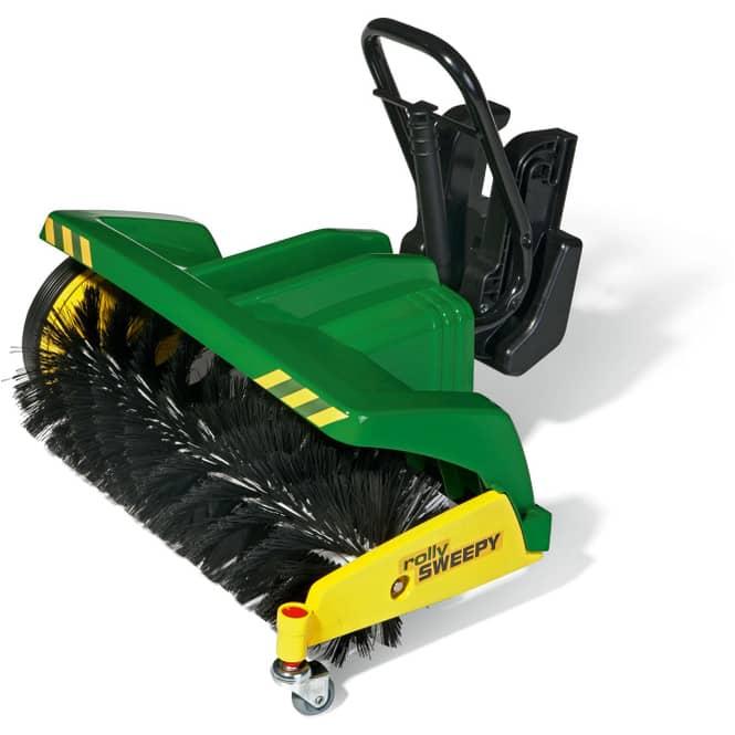Anbaukehrmaschine für Trettraktor - rollySweepy - grün