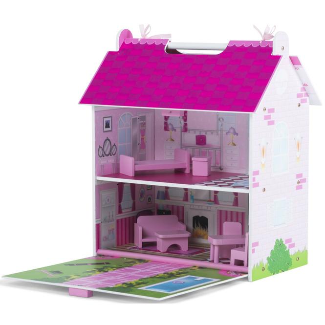 Puppenhaus - aus Holz - Pink Palace