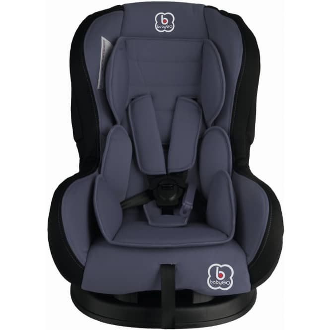 BabyGo - Auto-Kindersitz - Tojo - grau - Gruppe 0/1