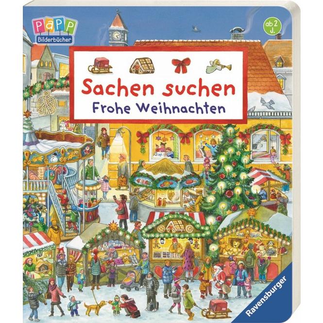 Papp Bilderbuch - Sachen suchen - Frohe Weihnachten