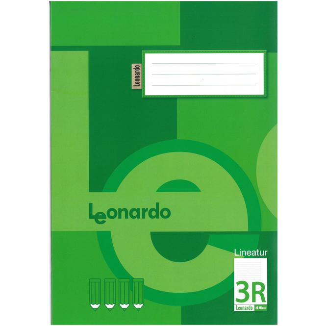 Schulheft DIN A4 liniert mit Rand - Lineatur 3R - 3. Klasse
