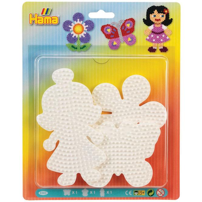 Hama Stiftplatten für Bügelperlen - Blume, Puppe, Schmetterling