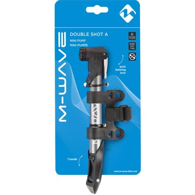 Mini-Luftpumpe M-Wave Double Shot A