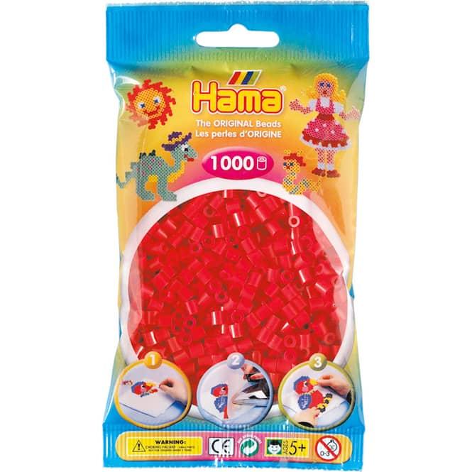 Hama Bügelperlen - 1000 Perlen - rot