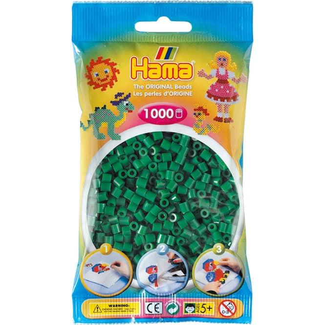 Hama Bügelperlen - 1000 Perlen - grün