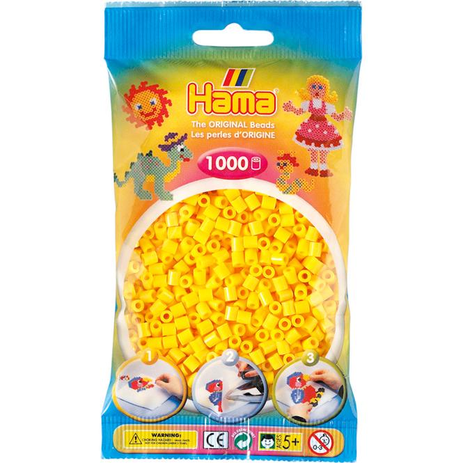 Hama Bügelperlen - 1000 Perlen - gelb