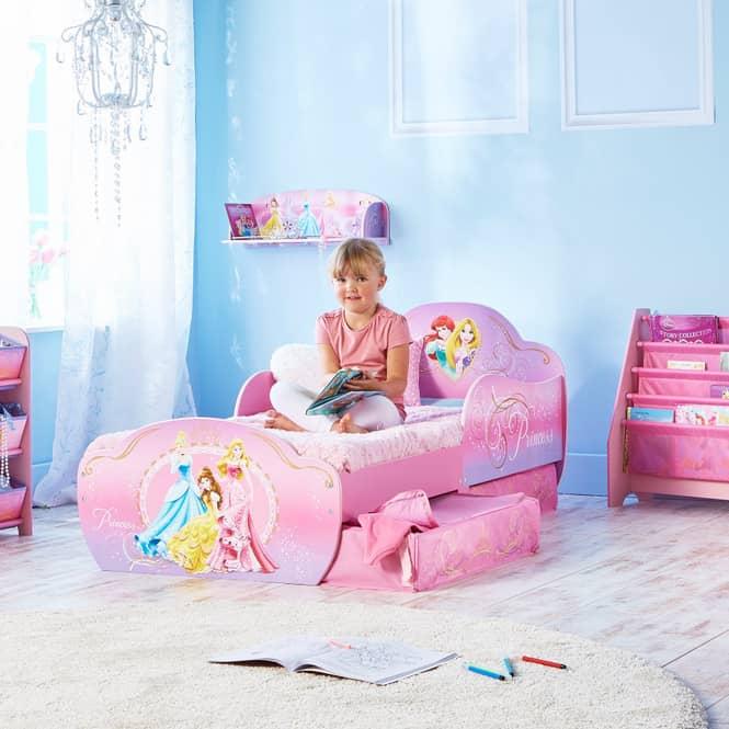 Disney Princess - Kinderbett mit Stauraum - ca. 70 x 140 cm