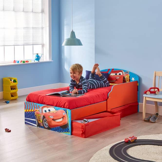 Cars - Kinderbett mit Stauraum - ca. 70 x 140 cm