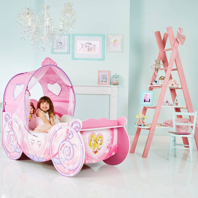 Disney Princess - Kinderbett im Kutschen-Design mit Licht - ca. 70 x 140 cm