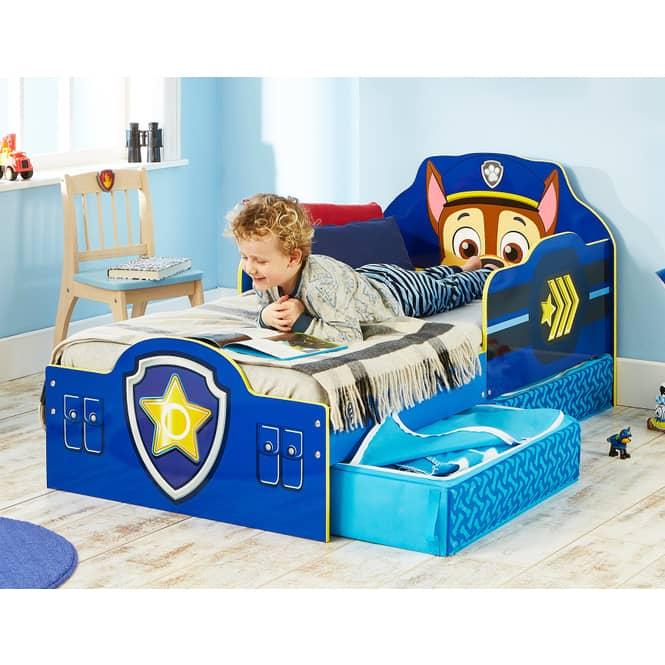 Paw Patrol - Kinderbett mit Stauraum - Chase - ca. 70 x 140 cm