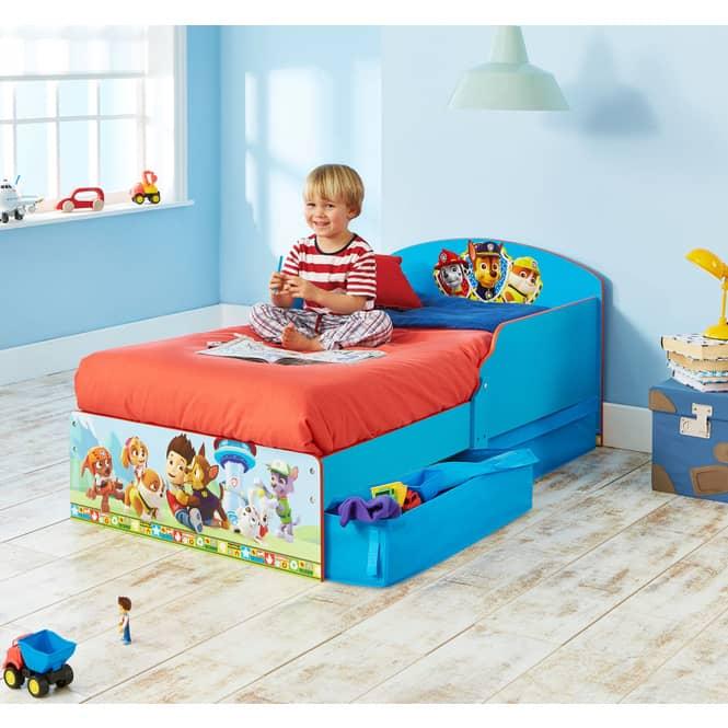 Paw Patrol - Kinderbett mit Stauraum - ca. 70 x 140 cm